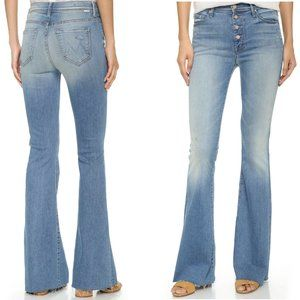 MOTHER Pixie Cruiser Fray Jeans